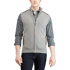 Men's Chaps Regular-Fit Full-Zip Sweater Vest