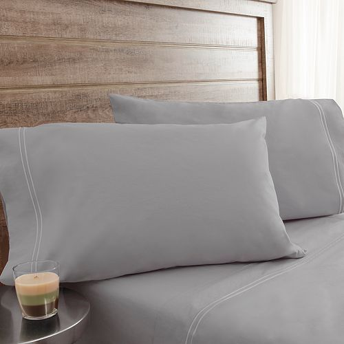 TWIN XL Sheet Set Light GRAY NEW in pkg. The BIG One 275 Thread Count