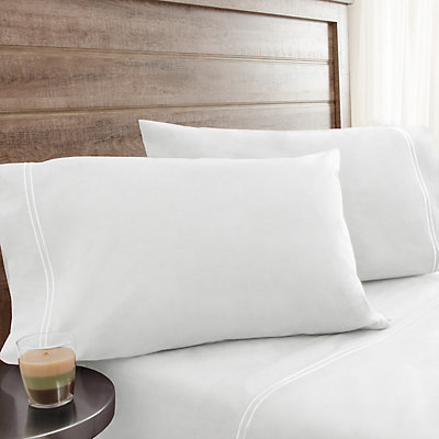 Grand Collection Soft Washed Cotton Percale Sheet Set