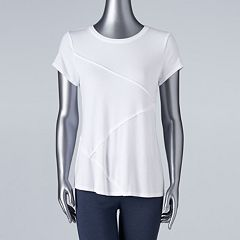 Women's Simply Vera Vera Wang Diagonal Seam Tee