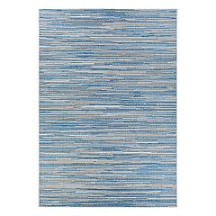 Couristan Monte Carlo Coastal Breeze Striped Indoor Outdoor Rug