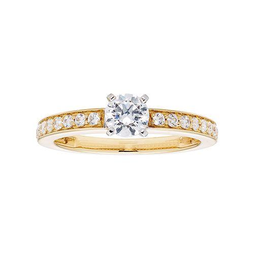 14k Gold 3/4 Carat T.W. IGL Certified Diamond Engagement Ring