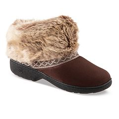 Women's isotoner Microsuede Basil Boot Slippers