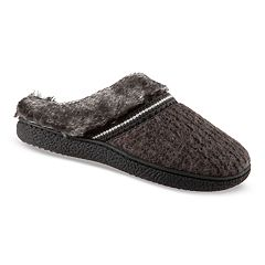 Women's isotoner Haley Sweater Knit Hoodback Slippers