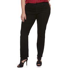 Plus Size Jennifer Lopez MidRise Straight-Leg Jeans