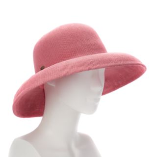 Women's Scala Knit Straw Big Brim Hat