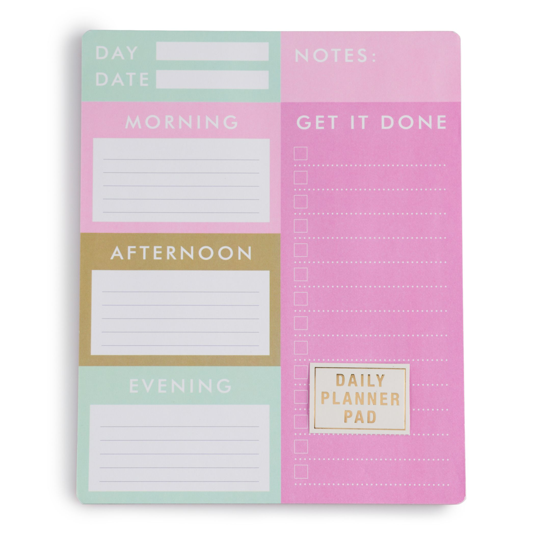 Beau Daily Planner Notepad
