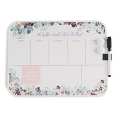 Floral Weekly Dry Erase Whiteboard