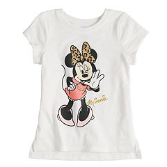 Disney's Minnie Mouse with Leopard Print Bow Graphic Tee by Jumping Beans®
