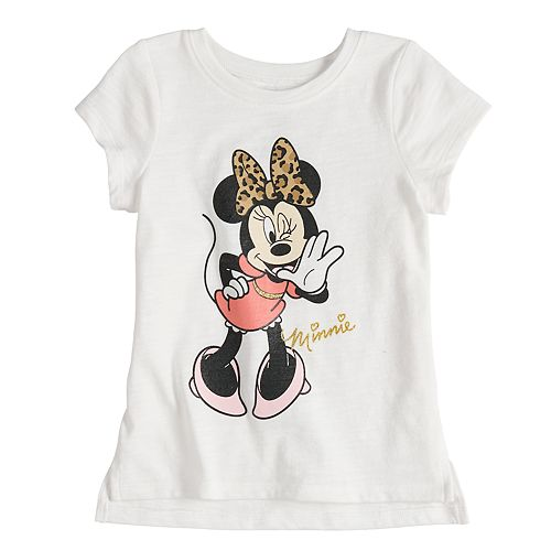 b53eddd41 Disney's Minnie Mouse with Leopard Print Bow Graphic Tee by ...