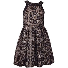 Girls 7-16 Bonnie Jean Bonded Lace Waistline Dress