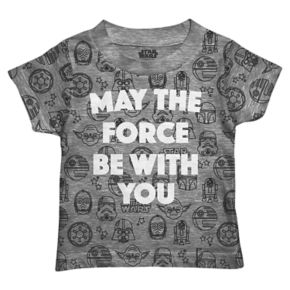 "Toddler Boy Stars Wars ""May The Force Be With You"" Graphic Tee"
