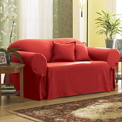 Sure Fit Solid Duck Cloth Loveseat Slipcover