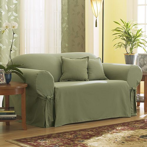 Super Sure Fit Solid Duck Cloth Loveseat Slipcover Dailytribune Chair Design For Home Dailytribuneorg