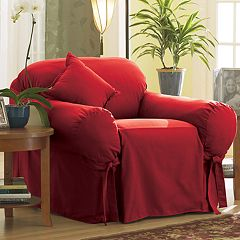 Sure Fit Solid Duck Cloth Chair Slipcover