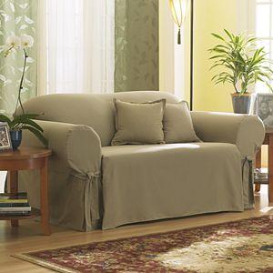 Admirable Sure Fit Solid Duck Cloth Chair Slipcover Interior Design Ideas Grebswwsoteloinfo