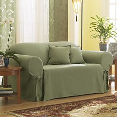 Sure Fit Solid Duck Cloth Sofa Slipcover