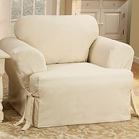 Sure Fit™ Solid Duck ClothT-Cushion Chair Slipcover