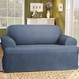 Sure Fit? Solid Duck Cloth T-Cushion Sofa Slipcover