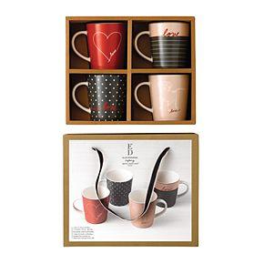 ED Ellen DeGeneres Crafted By Royal Doulton Signature 4-piece Mug Set