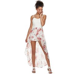 Juniors' AS U WISH Floral Maxi Romper