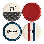 ED Ellen DeGeneres Crafted By Royal Doulton Joy 4-piece Plate Set