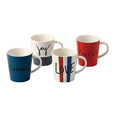 ED Ellen DeGeneres Crafted By Royal Doulton Joy 4-piece Mug Set