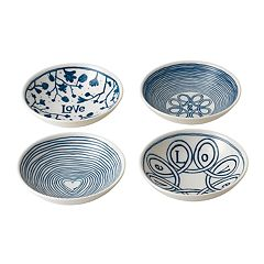 ED Ellen DeGeneres Crafted By Royal Doulton Blue Love 4-piece Bowl Set