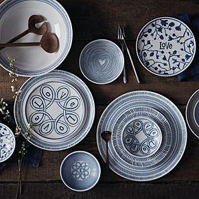 ED Ellen DeGeneres Crafted By Royal Doulton Blue Love 4-piece Bowl Set