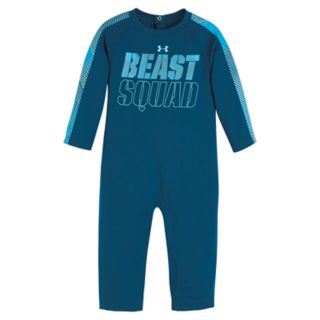 """Baby Boy Under Armour """"Beast Squad"""" Coverall"""