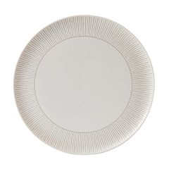 ED Ellen DeGeneres Crafted By Royal Doulton Taupe Stripe Serving Platter