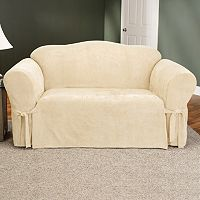 Sure Fit Faux-Suede Loveseat Slipcover