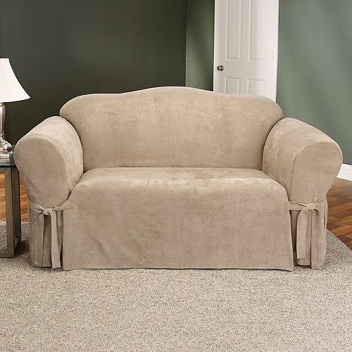 Sure Fit Faux Suede Loveseat Slipcover