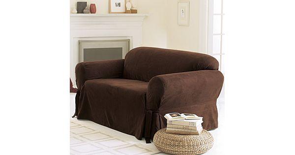 Sure Fit Faux Suede Sofa Slipcover