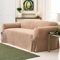 Sure Fit Faux-Suede Sofa Slipcover