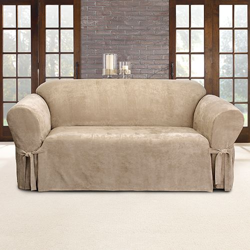 Sure Fit Faux Suede Sofa Slipcover