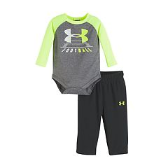 Baby Boy Under Armour 2-pc. Football Raglan Bodysuit & Pants Set