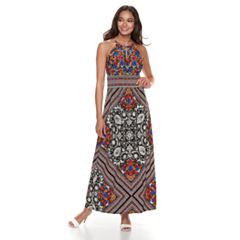 Petite Suite 7 High Neck Maxi Dress