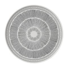 ED Ellen DeGeneres Crafted By Royal Doulton Charcoal Grey Lines Serving Platter