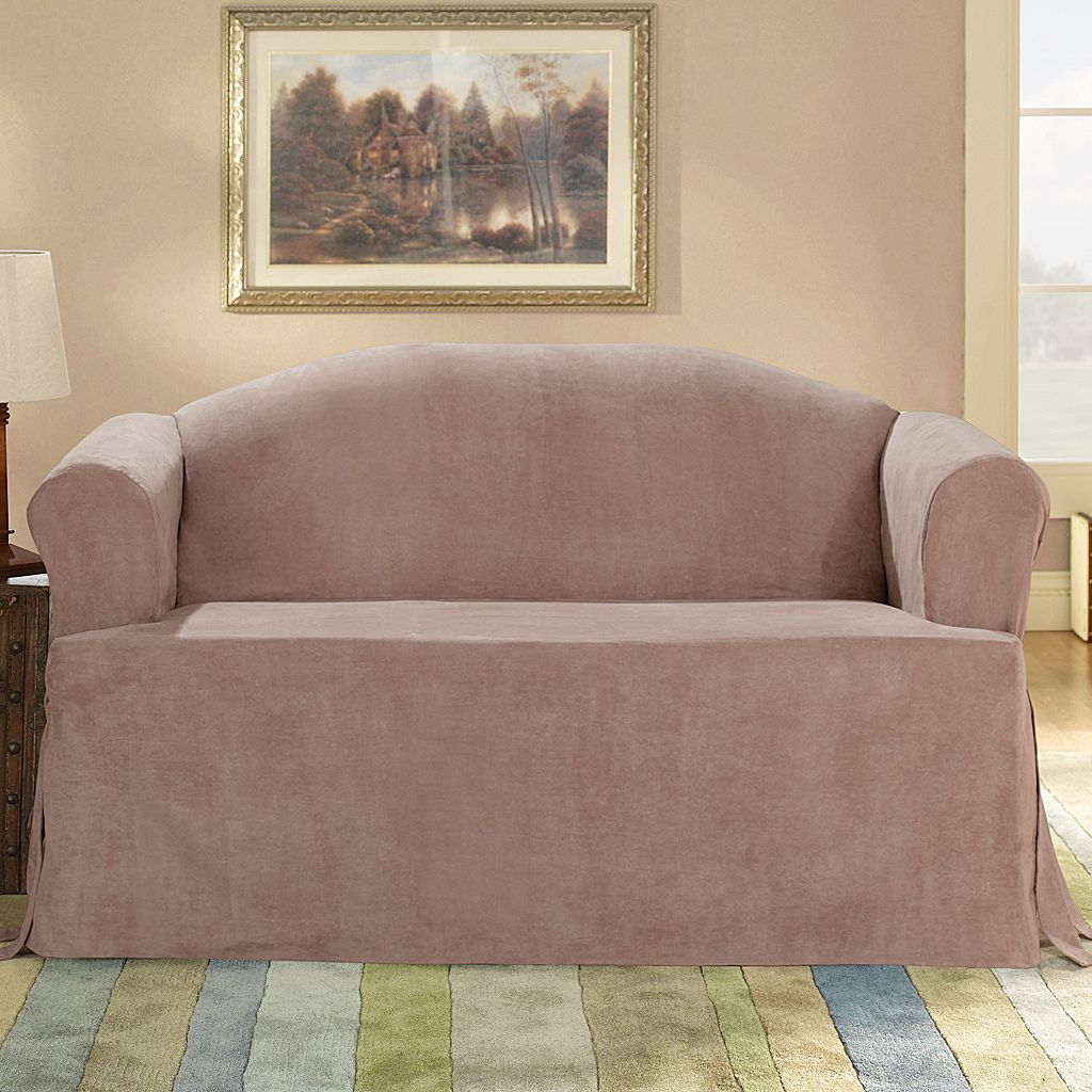 Sure Fit™ Faux-Suede T-Cushion Sofa Slipcover