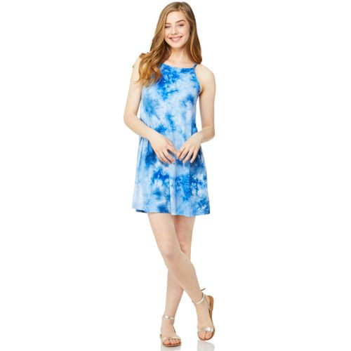 Juniors' Wallflower Tie Dye Halter Tank Dress by Kohl's