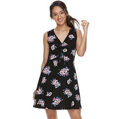 Juniors' Lily Rose Printed Skater Dress