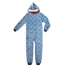Boys 4-20 Jellifish Animal Hooded 1-Piece Pajamas