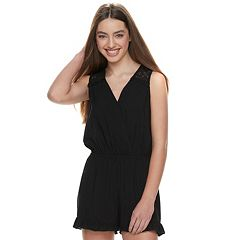 Juniors' Joe B Ruffled Romper