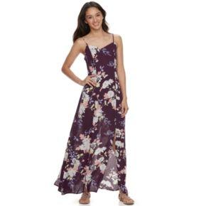 Juniors' Love, Fire Gauze Floral Maxi Dress