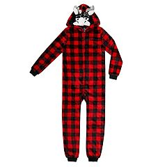 Boys 4-20 Jellifish Animal Hooded 1-Piece Pajamas