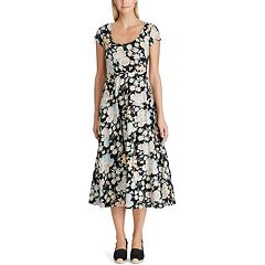 0674fca9b8d76 Women's Chaps Tropical Fit & Flare Midi Dress