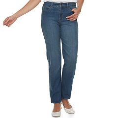 Petite Croft & Barrow® Classic Stretch Straight-Leg Midrise Jeans