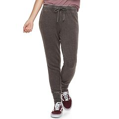 Juniors' SO® Ribbed Cuff French Terry Jogger Pants