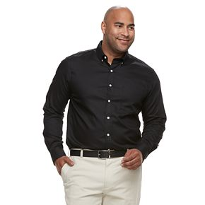 Big & Tall Croft & Barrow® Regular-Fit Easy-Care Dobby Button-Down Shirt